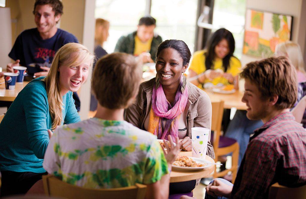 University students socialising