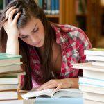 University student studying