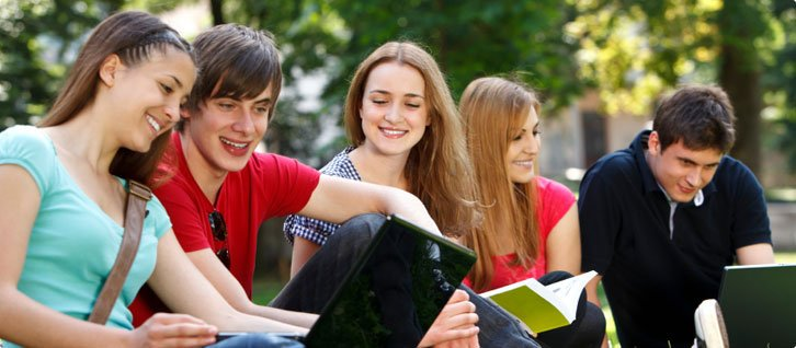 Students enjoying University life