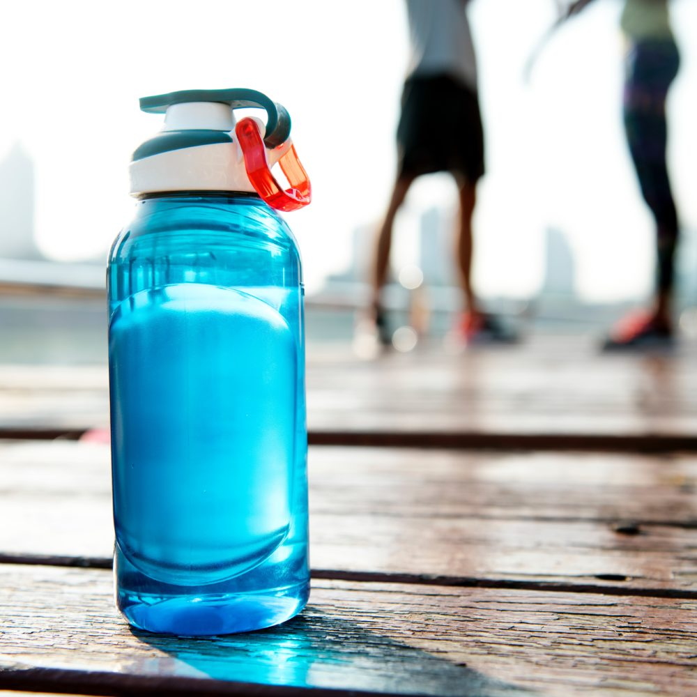 Bottle of water to keep hydrated in summer