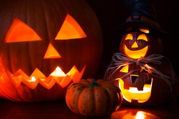 Halloween pumpkins in October